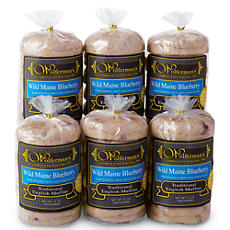 Wild Maine Blueberry Traditional English Muffins 6 Packages