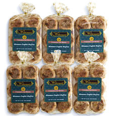 Cinnamon Raisin Mini English Muffins - Six Packages